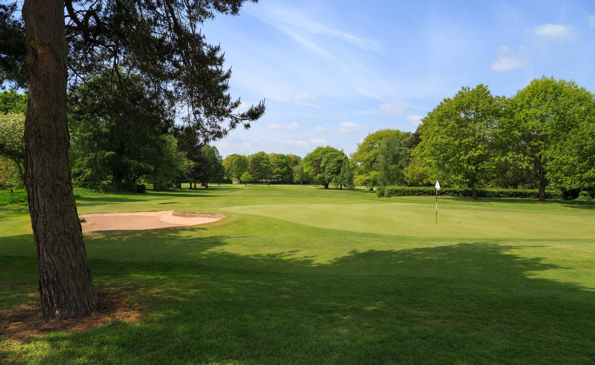 south staffordshire golf club hole 2